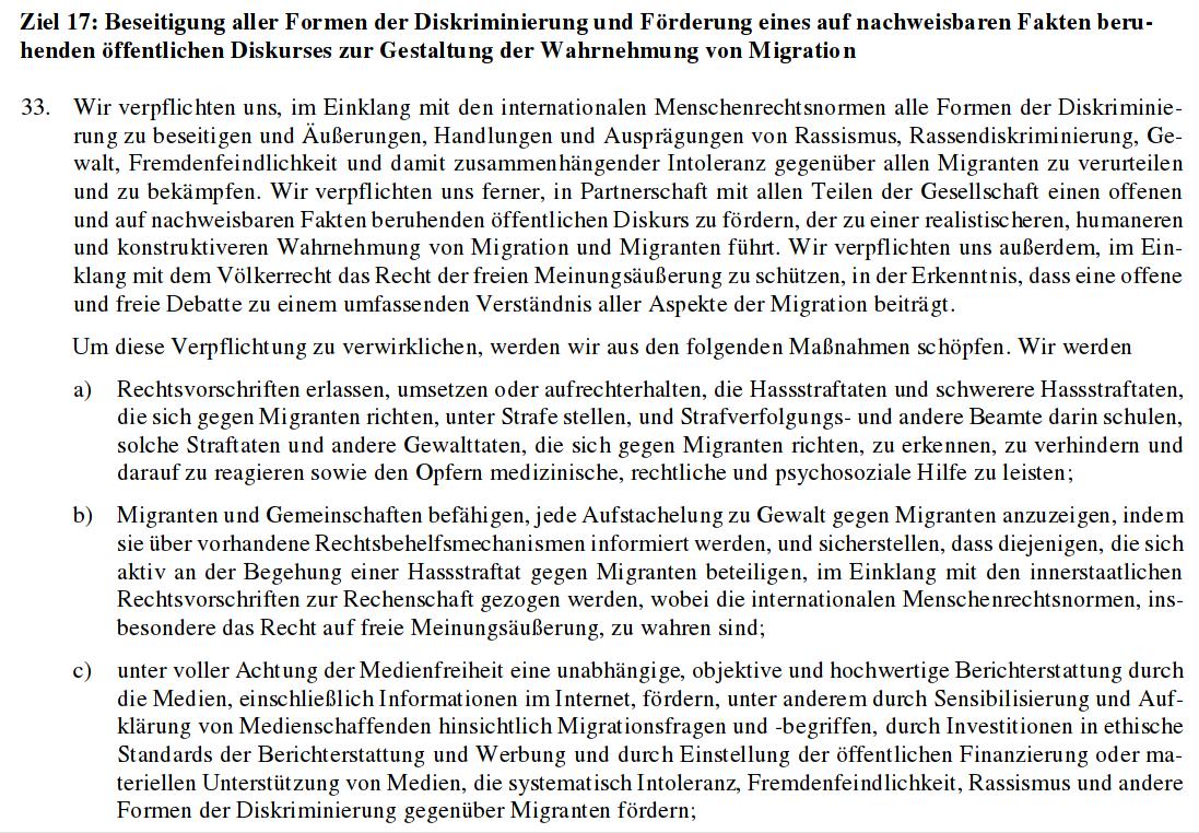 Ziel 17 des UN-Migrationspakts