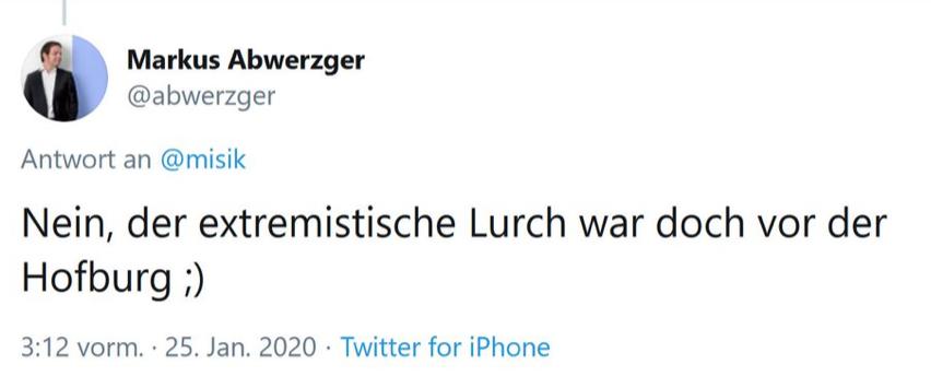 """Abwerzger über DemonstrantInnen wie Omas gegen Rechts: """"der extremistische Lurch"""""""