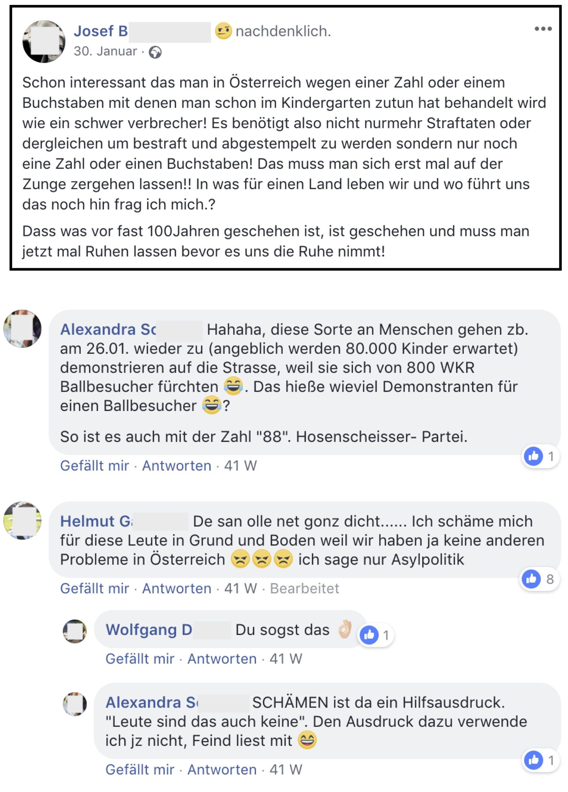 Unverständnis und Empörung bei Josef. B. und ParteifreundInnen, darunter Alexandra S., Obmann-Stellvertreterin der Freiheitlichen Arbeitnehmer Salzburg