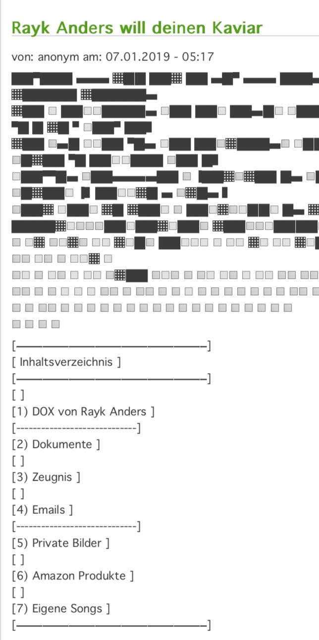 Datensammlung aus dem Hack zum Journalisten Rayk Anders