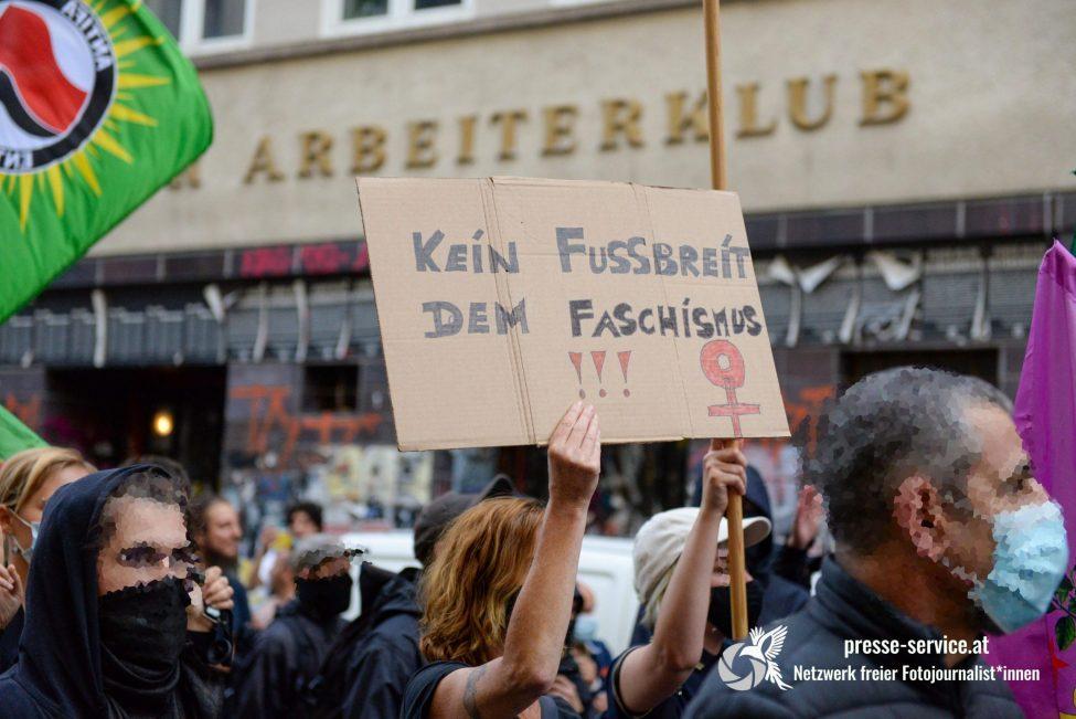 Antifaschistische Solidaritätskundgebung (Foto Presseservice Wien)