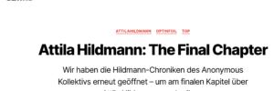 """Blogbeitrag von Anon Leaks: """"Attila Hildmann: The Final Chapter"""""""