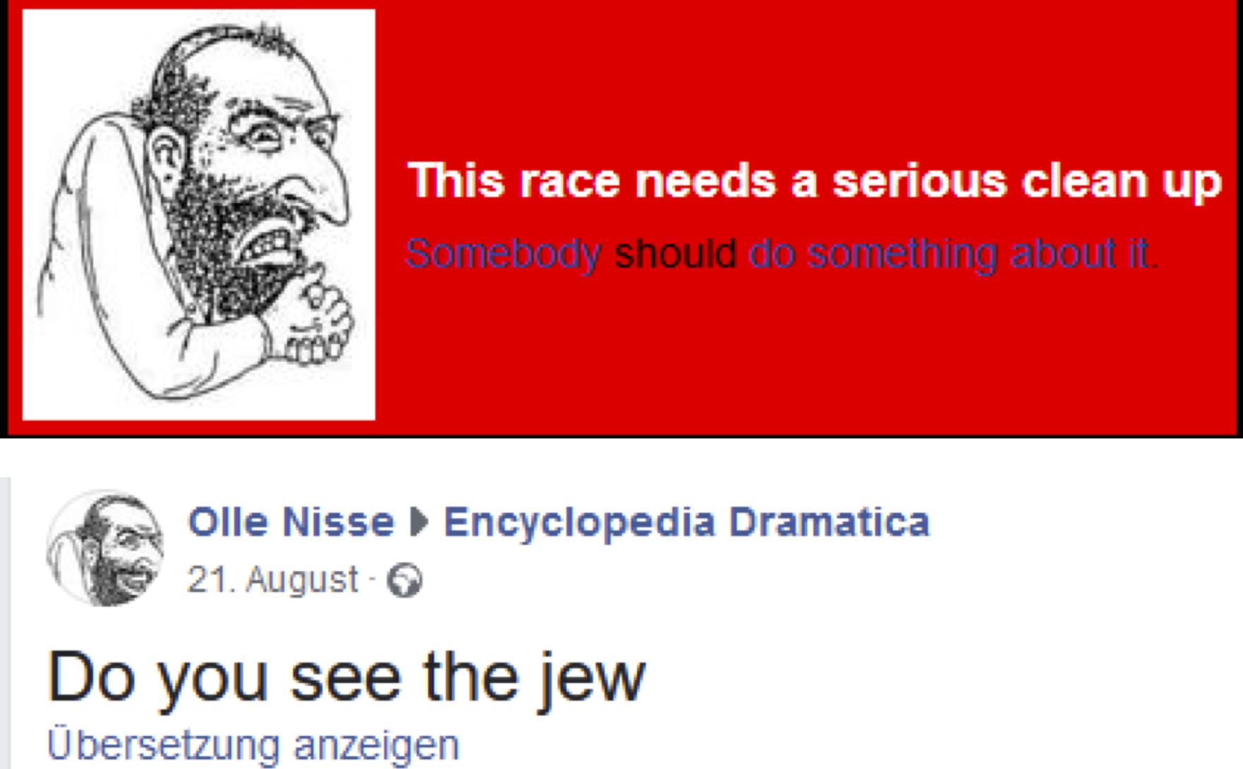 antisemitische Einträge auf ED