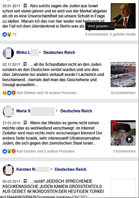 """Antisemitismus und Holocaustleugnung in der Gruppe """"Deutsches Reich"""""""