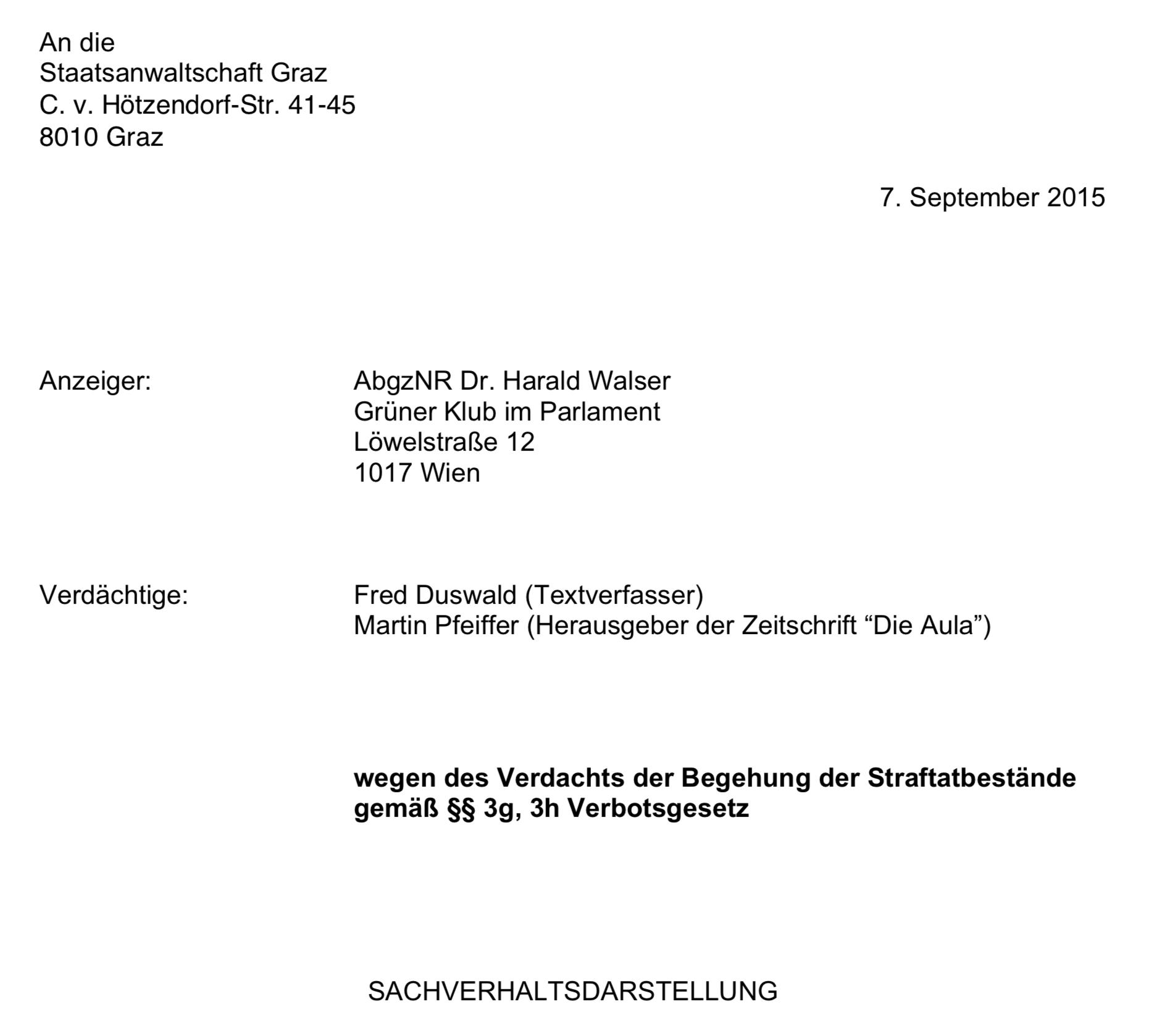Aula: Anzeige Walser September 2015