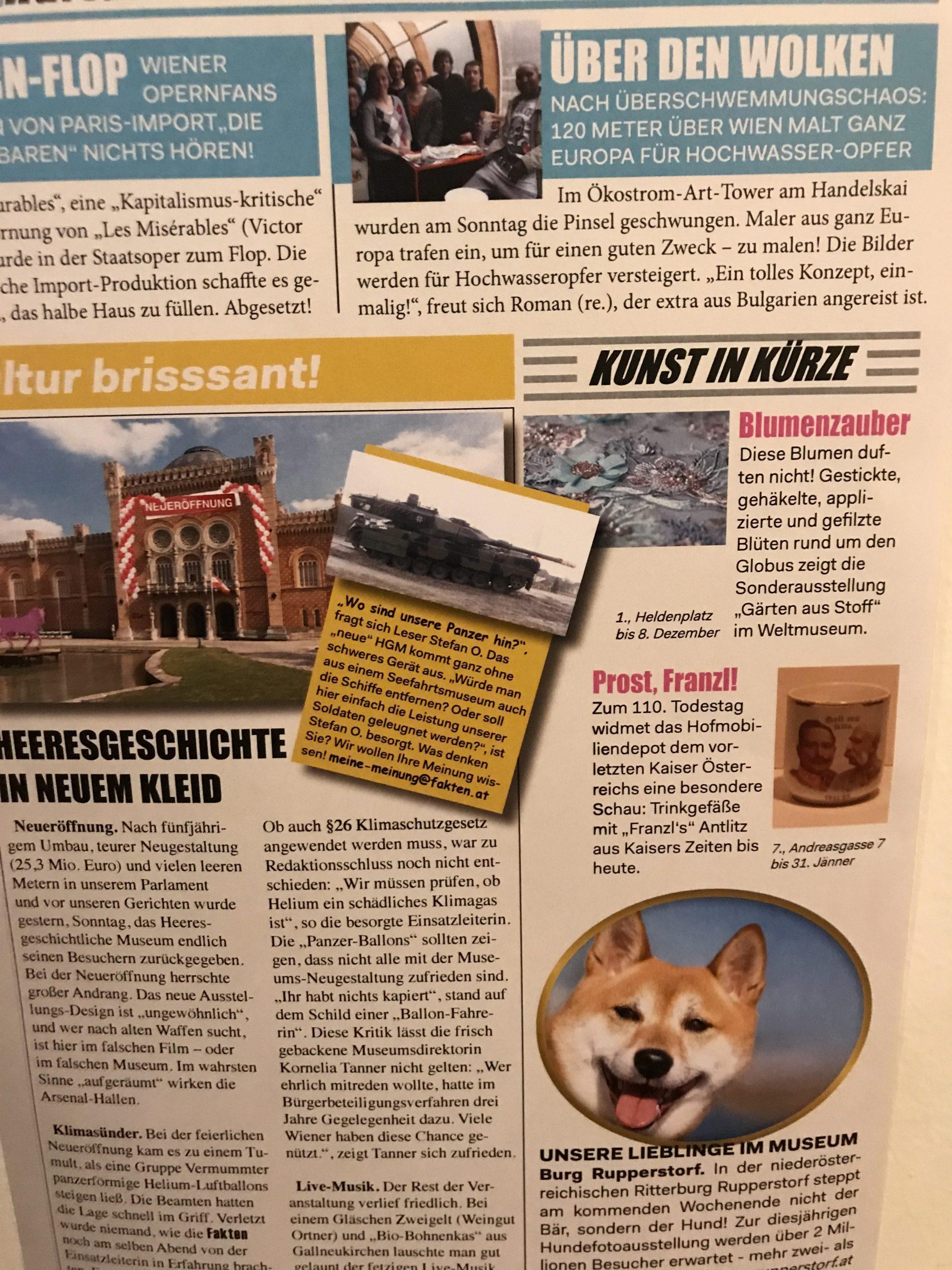 Objekt Ausstellung #HGMneudenken: fiktive Zeitung