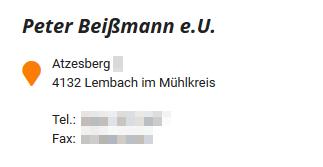 Beißmann Firmenbuch vs. BeiSSmann Logo