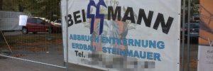 Banner Fa. Beissmann in Retz (© privat)
