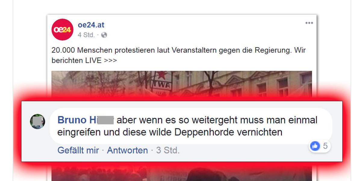 Bruno H.: Deppenhorde vernichten (Tweet @Rechtsdrall)