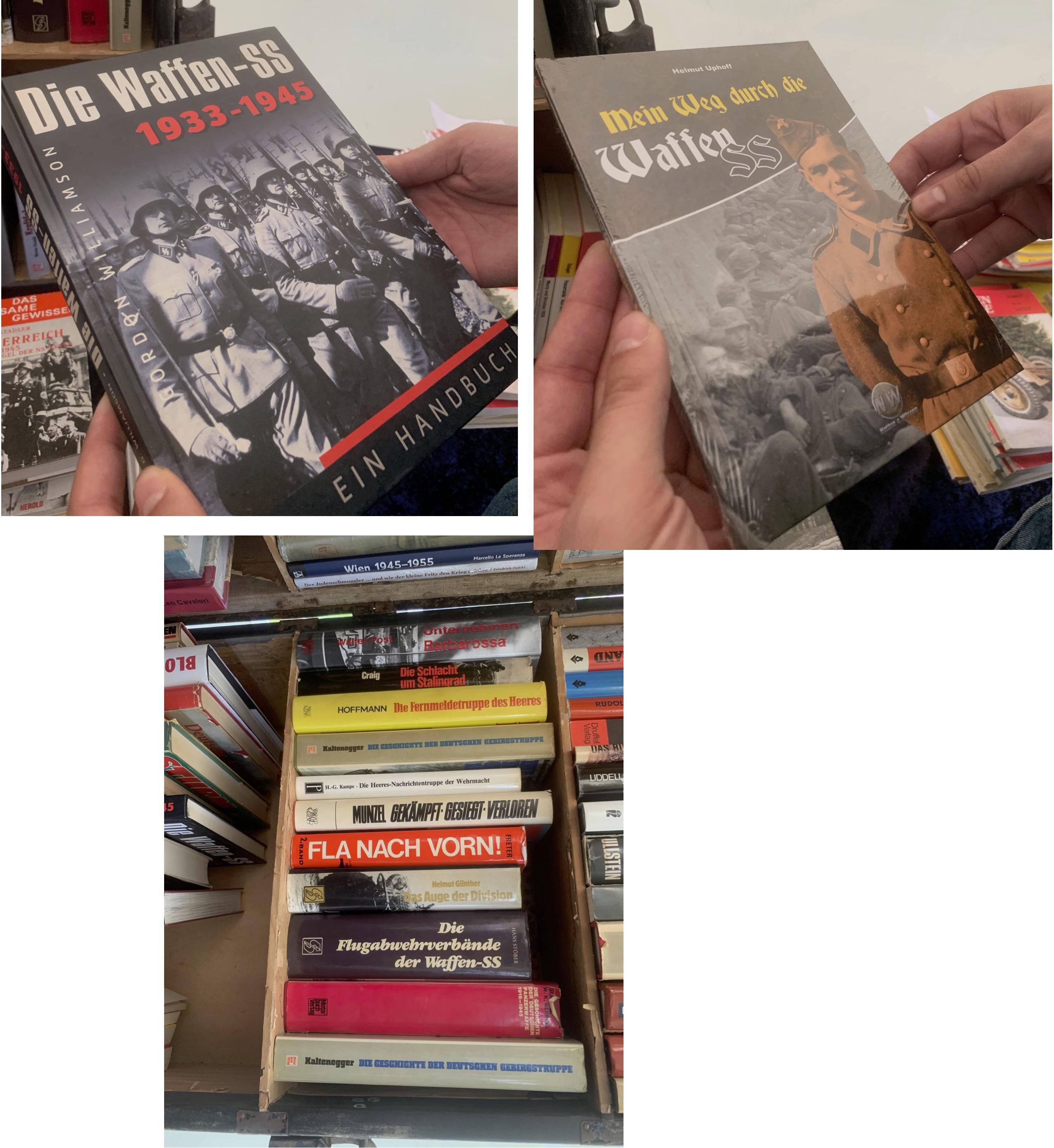 NS-Literatur am Stand der Buchhandlung Stöhr (© SdR)