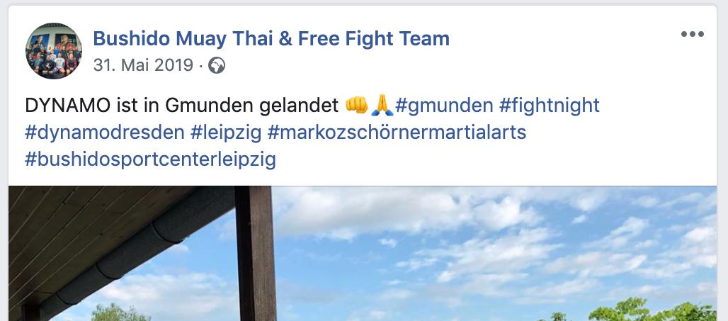 Das Leipziger Kampfsportteam in Gmunden (Screenshot Instagram)