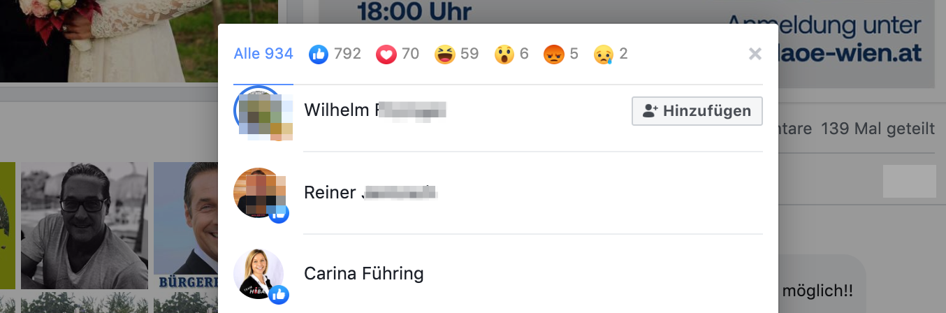 Like für Strache/DAÖ: Carina Führing