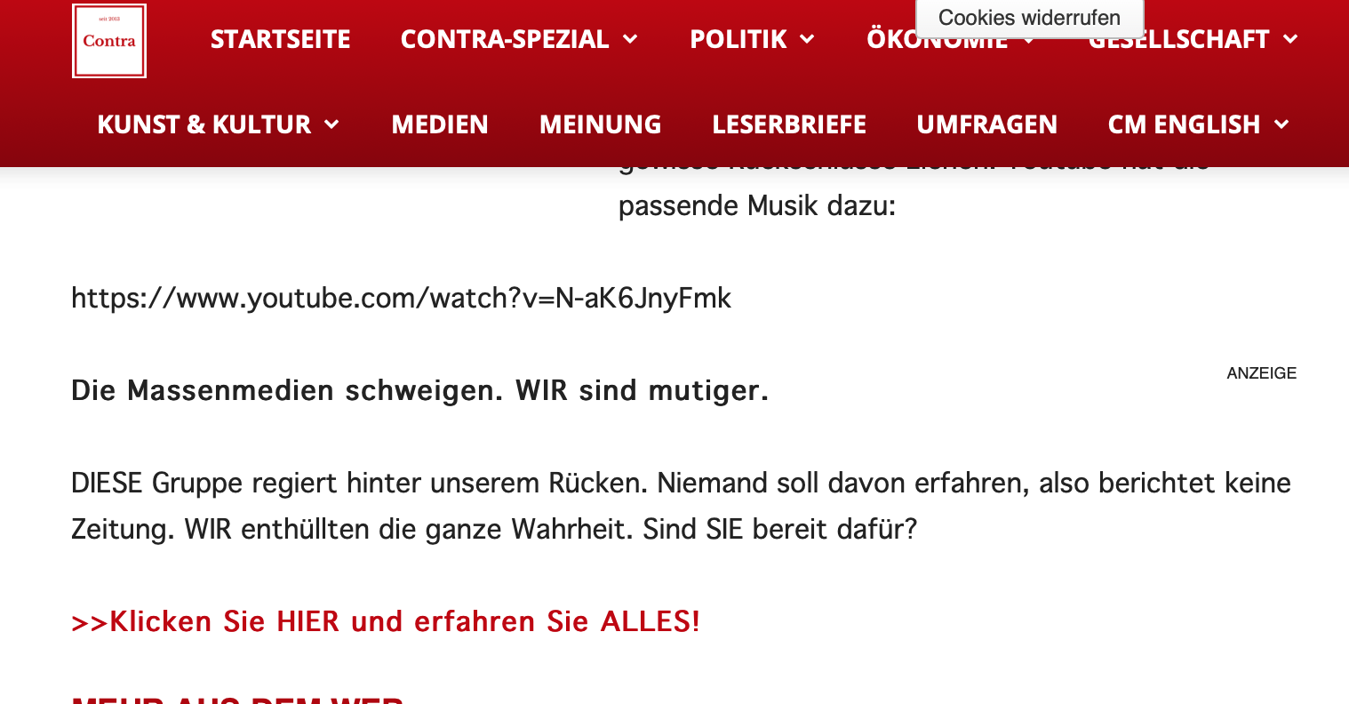 Das Contra Magazin – bräunliche Verschwörungstheorien und...