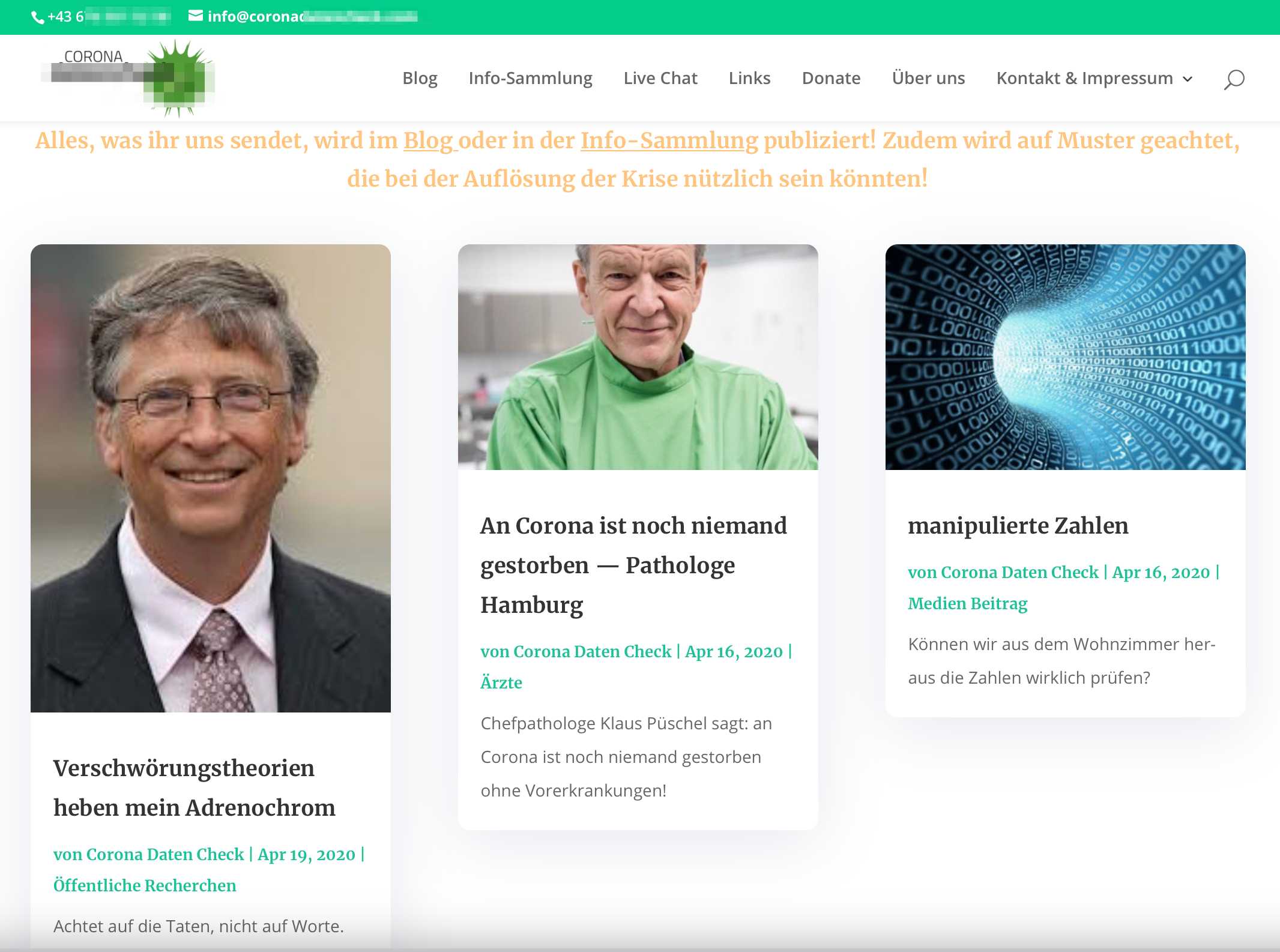 """Zahnmediziner: Verschwörungstheorien von Bill Gates, über Leugnung der Gefährlichkeit des Virus bis zu """"manipulierte Zahlen"""""""