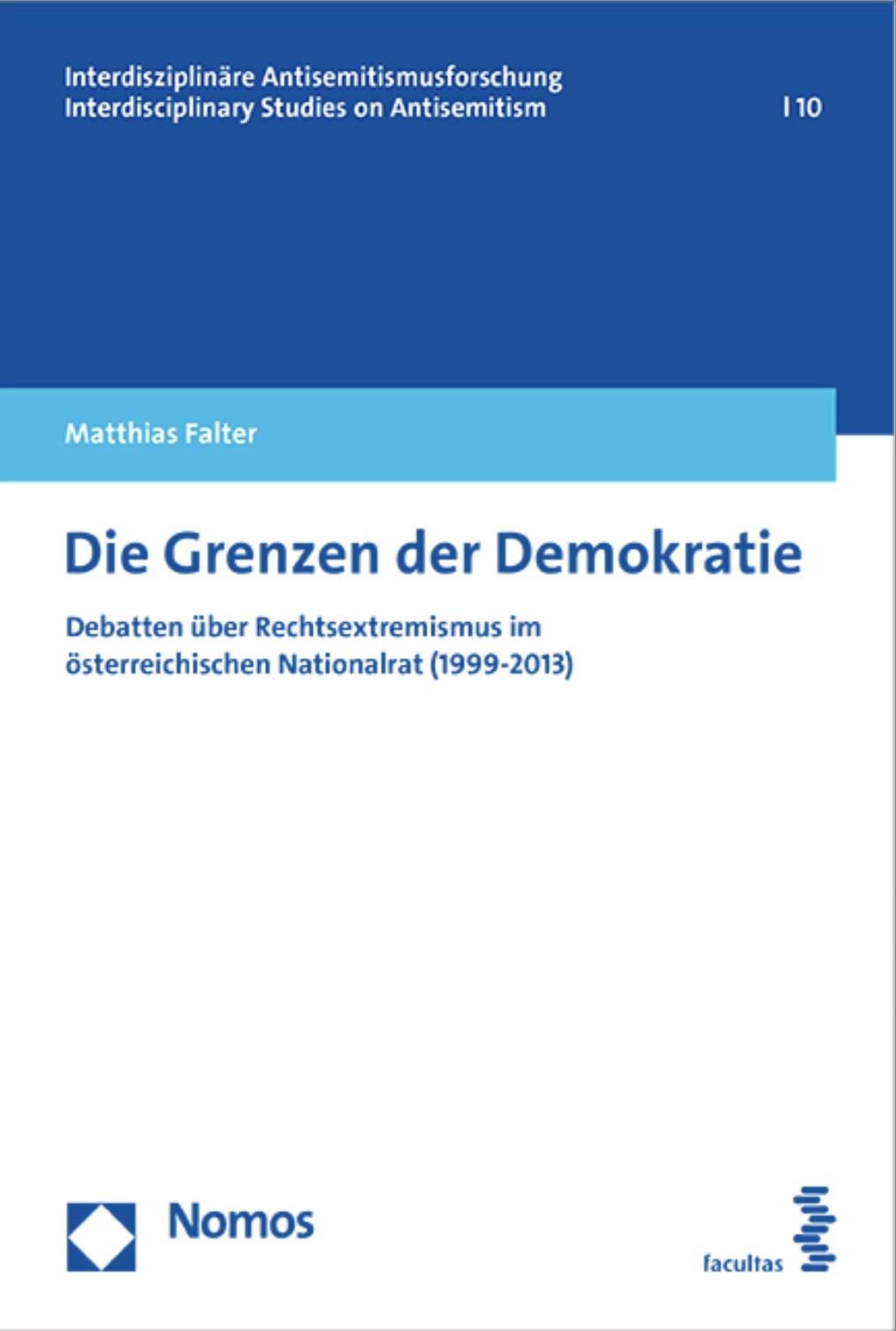 Cover Matthias Falter: Die Grenzen der Demokratie