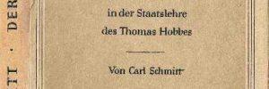 Buchcover Carl Schmitt, Der Leviathan in der Staatslehre des Thomas Hobbes (1938) - Zeichnung Walflischflosse am Cover