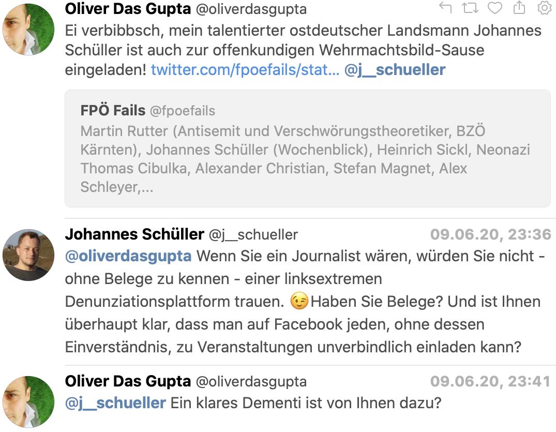 DasGupta versus Schüller