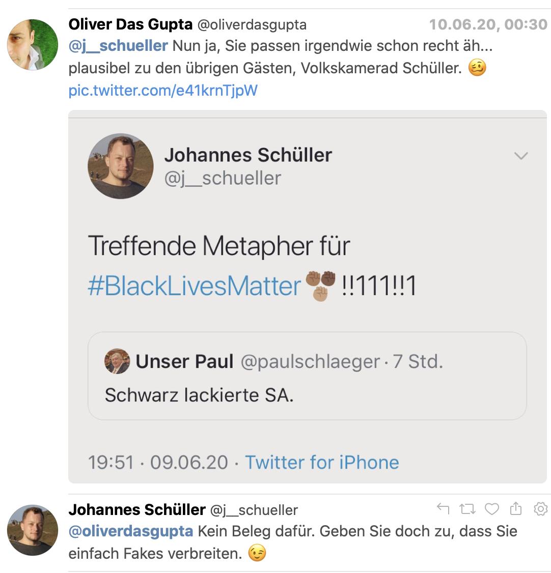 DasGupta vs. Schüller