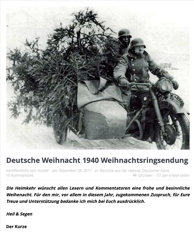 Deutsche Weihnacht 1940 Weihnachtsringsendung
