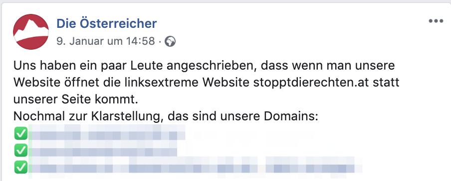 """Statt """"Die Österreicher"""" kommt """"Stoppt die Rechten"""""""