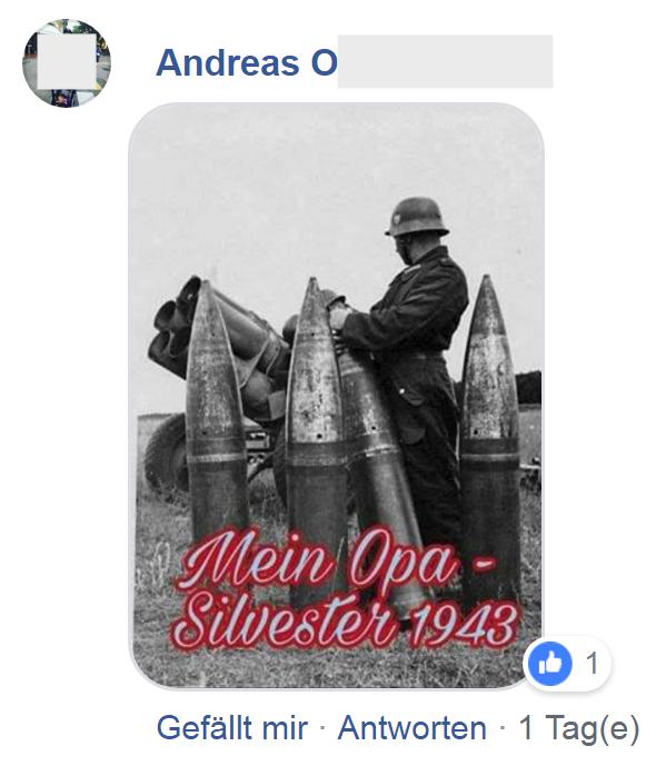 "Andreas O ""Mein Opa – Silvester 1943"" (Screenshot FPÖ Fails 1.1.19)"