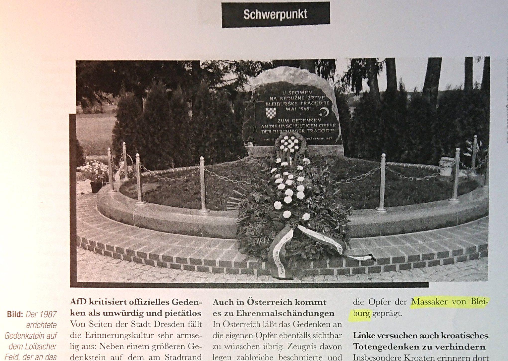 """""""Der Eckart"""" zum Faschisten-Aufmarsch in Bleiburg/Pliberk"""