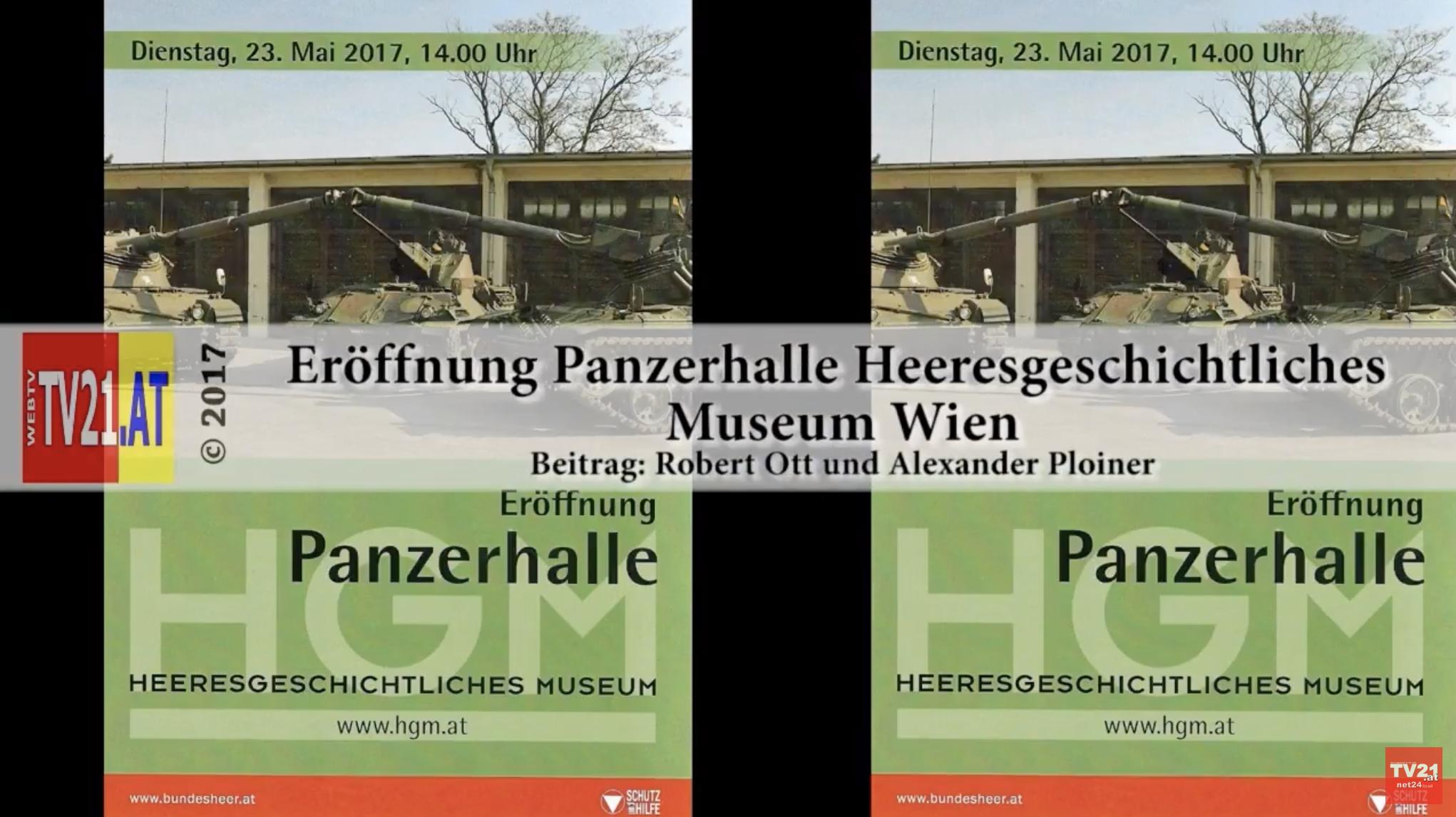 Video der Eröffnung der Panzerhalle als Ausstellungort (Screenshot YouTube)