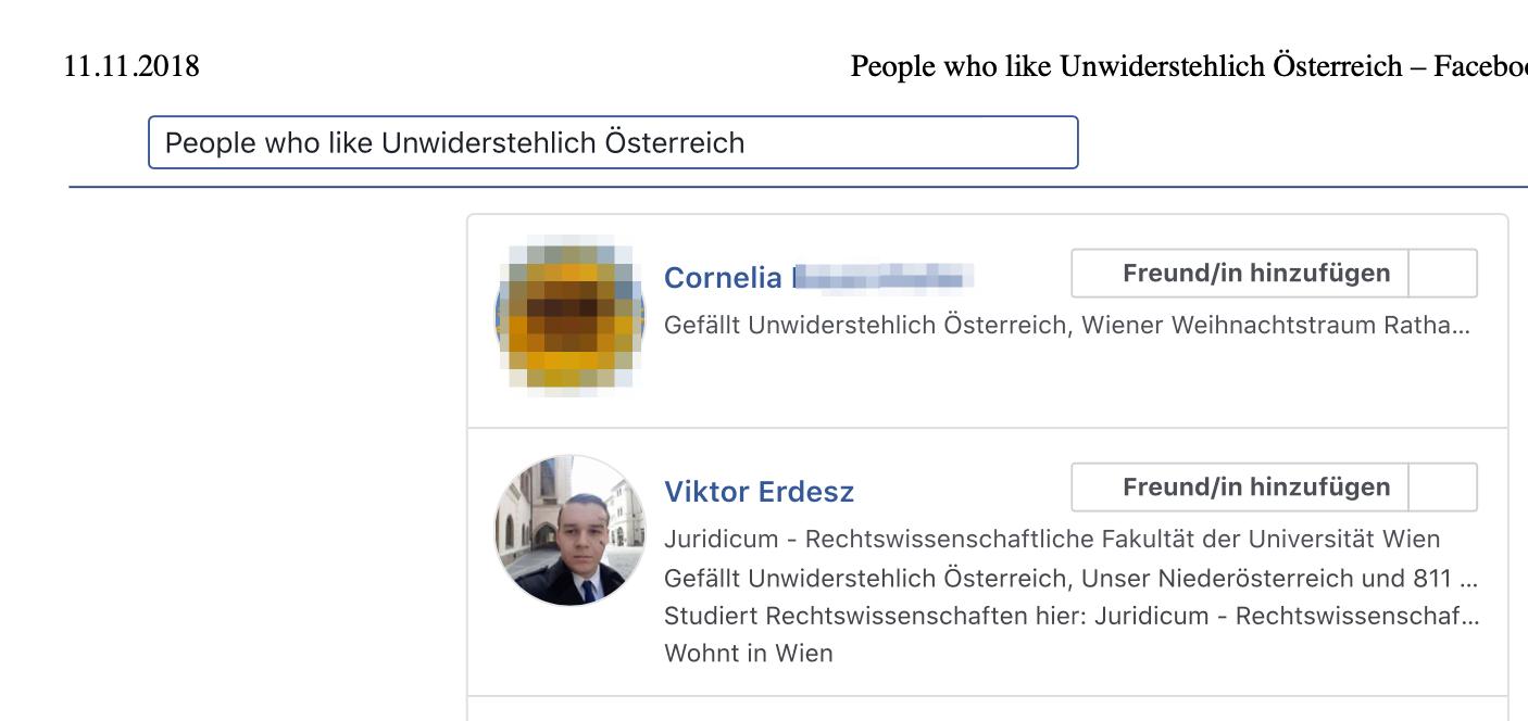 """Viktor Erdresz als FB-Fan von """"Unwiderstehlich"""""""