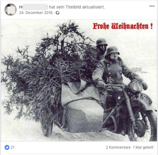 Pressemitarbeiter im FPÖ-Klub (Ex-Vapo) teilt auf Facebook Wehrmacht-Bild