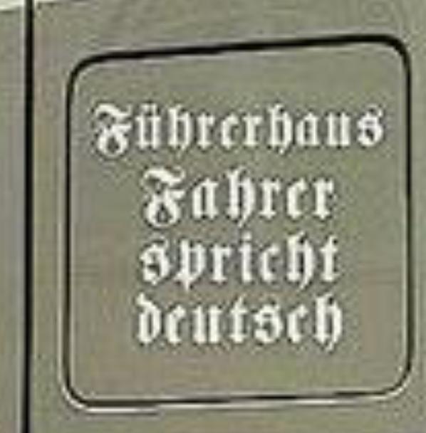 """Aufkleber """"Führerhaus. Fahrer spricht deutsch"""""""
