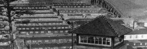 Wachturm und Baracken des Konzentrationslagers Flossenbürg Bildquelle: KZ-Gedenkstätte Flossenbürg