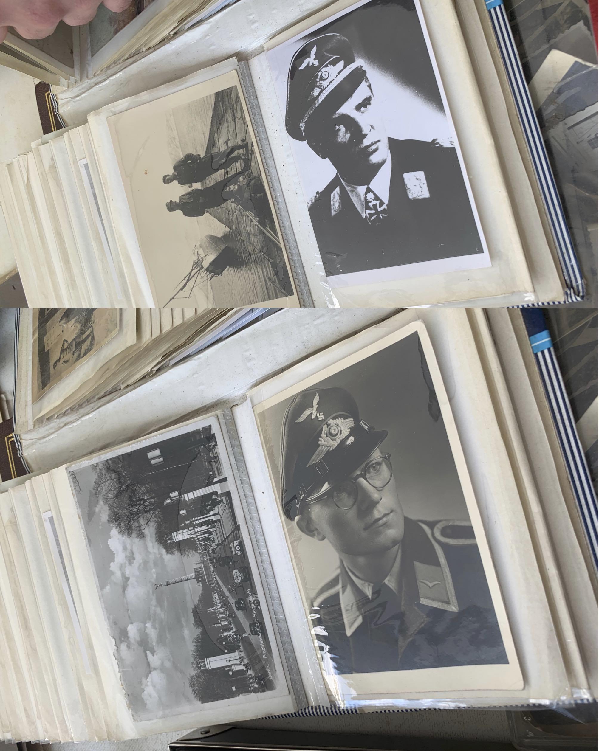 Fotoalben mit NS-Uniformen – inkl. Hakenkreuz (© SdR)