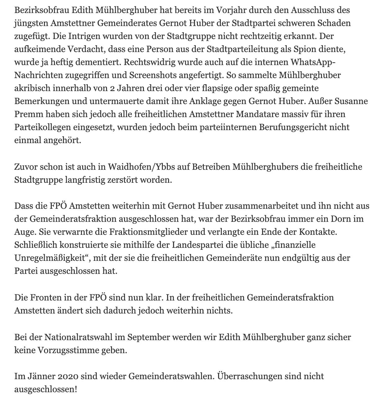 Brigitte Kashofer wettert über ihre Ex-Partei und Edith Mühlberghuber