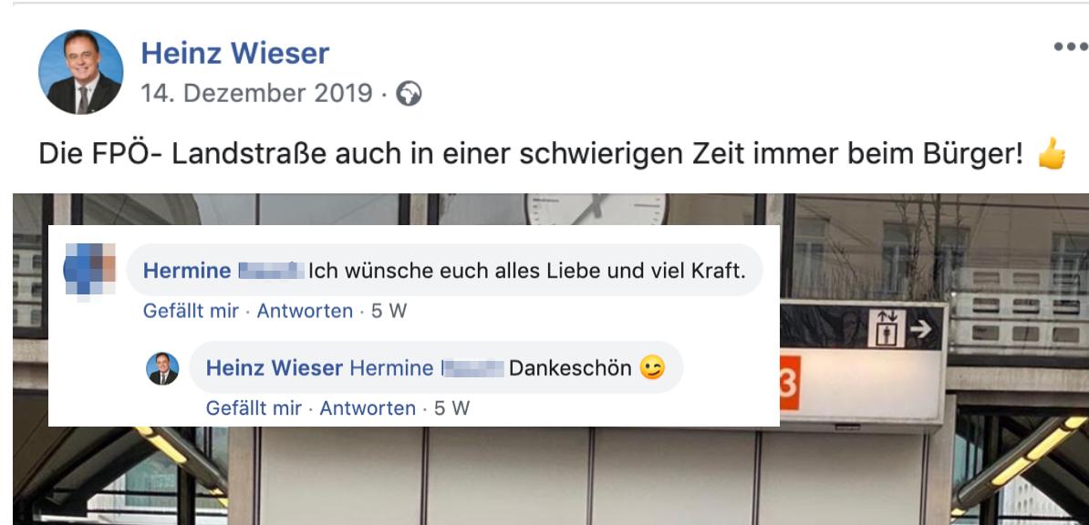 """Heinz Wieser: """"Die FPÖ-Landstraße auch in einer schweirigen Zeit immer beim Bürger!"""""""