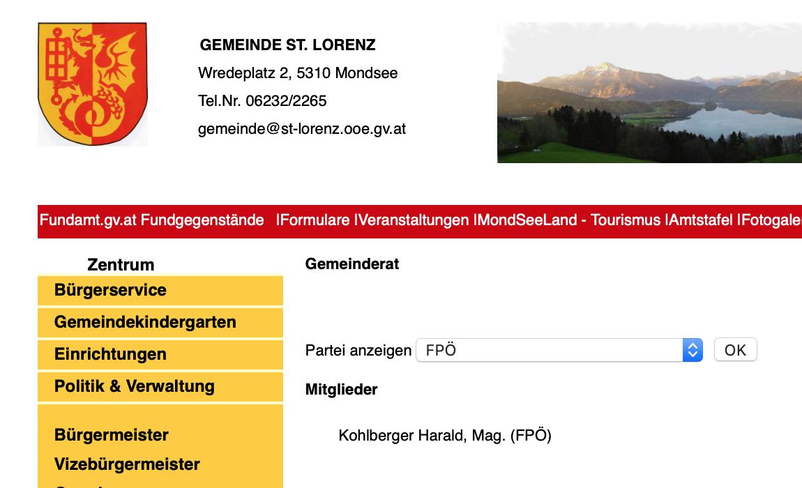 zusammengschrumpfte FPÖ-Fraktion im GR von St. Lorenz