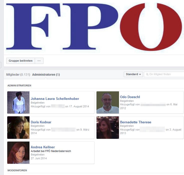 Die Admins der Offenen Gruppe auf Facebook