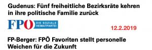 FPÖ Favoriten: Zuerst versuchte Austritte, danach Ausstausch des Führungspersonals