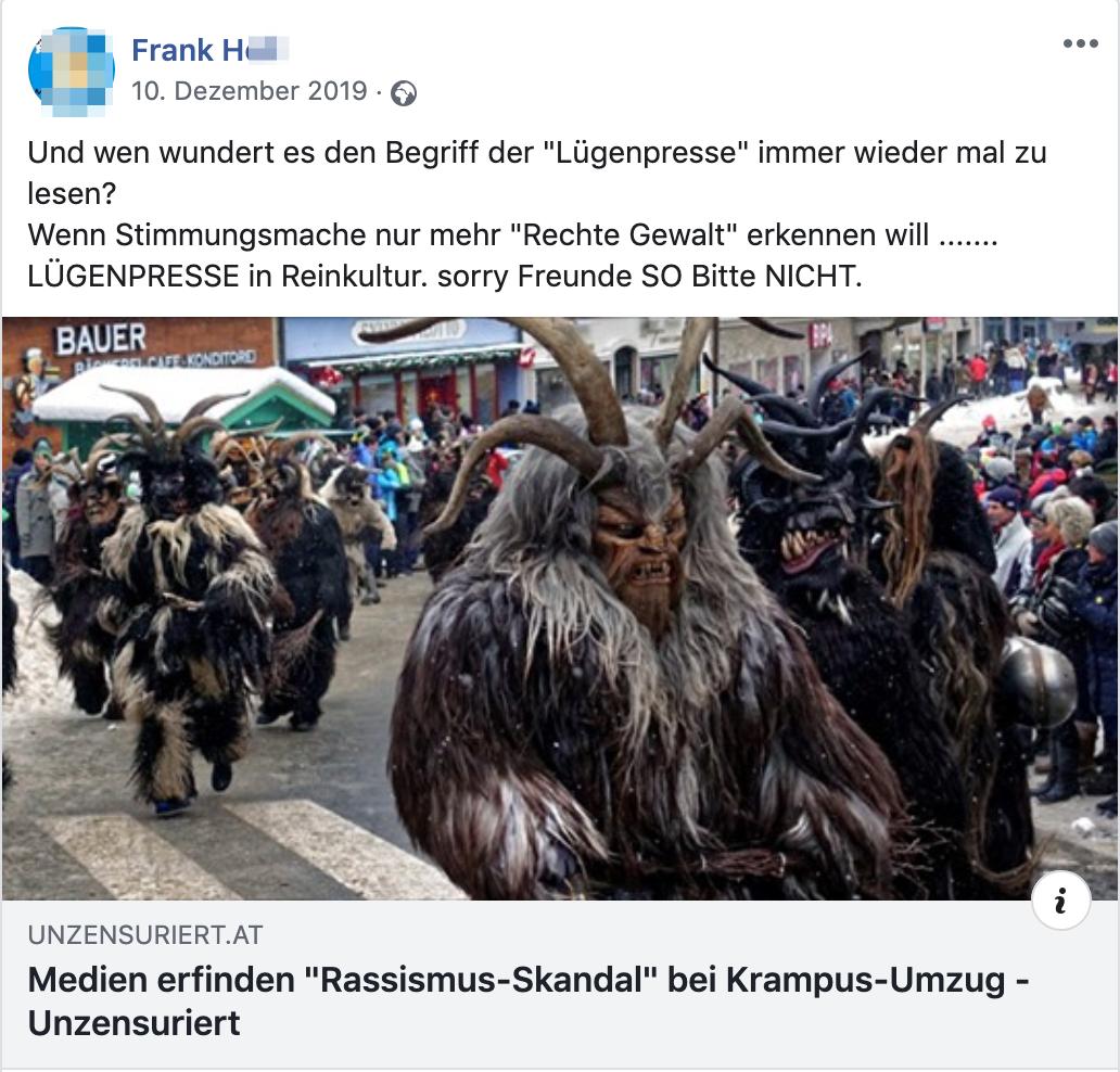 """Frank H. teilt """"unszensuriert"""" gegen die """"Lügenpresse"""""""