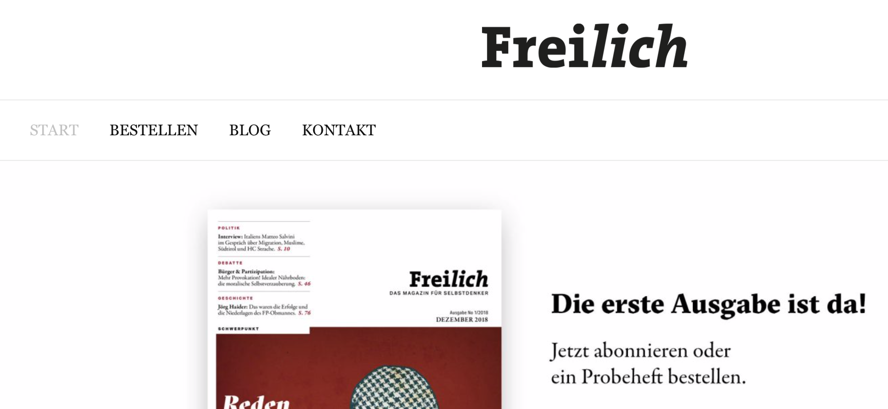 Freilich-Magazin Website