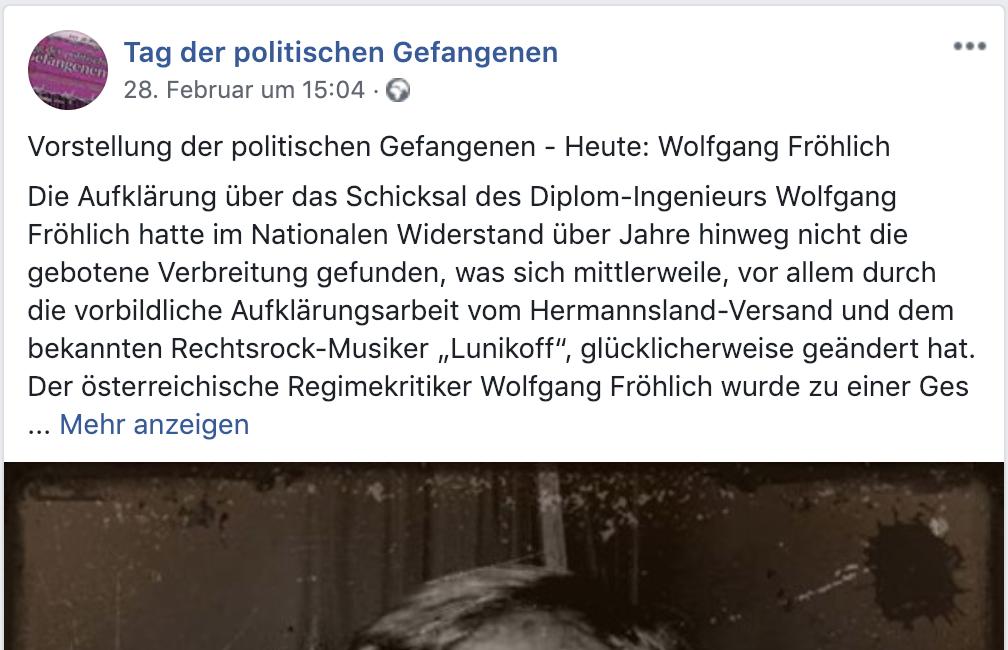 Neonazis betrauern Haft von Wolfgang Fröhlich