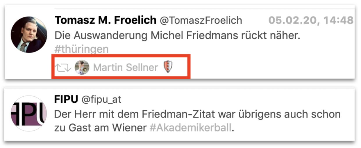 """Tomasz Froelich: """"Die Auswanderung Michel Friedmabns rückt näher"""" FIPU: Der Herr mit dem Friefdman-Zitat war übrigens auch schon zu Gast am Wiener Akademikerball."""""""
