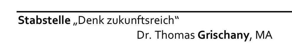 Grischany in der Geschäftseinteilung von Straches Ministerium