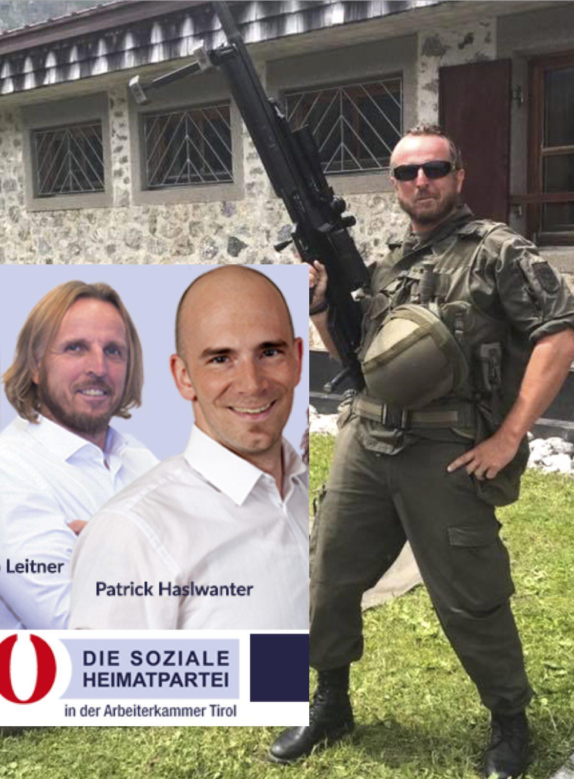 Leitner als Rambo und als Kandidat für die AK-Wahl 2019