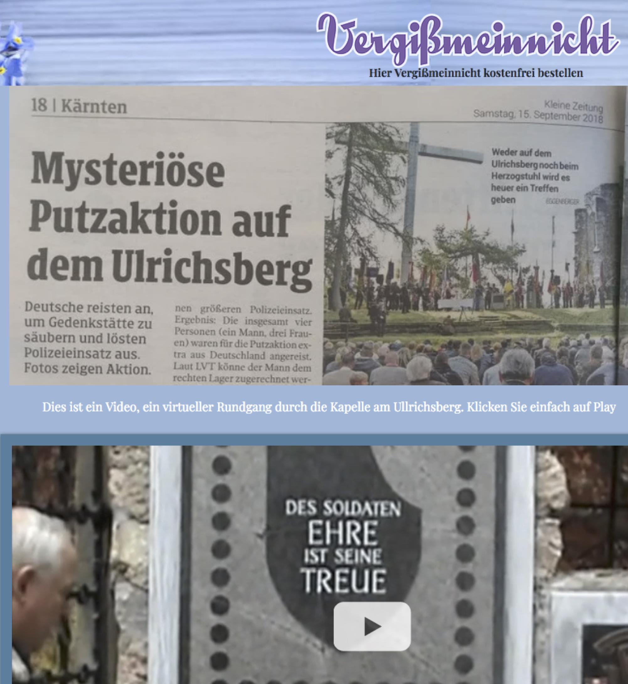 Jürgen Hösl auf seiner Website zum Ulrichsberg