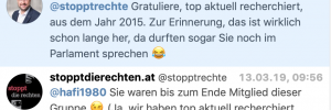 """Berufsvernaderer"", ""ausrangierter Politiker"" – Hafenecker über SdR, respektive Karl Öllinger"