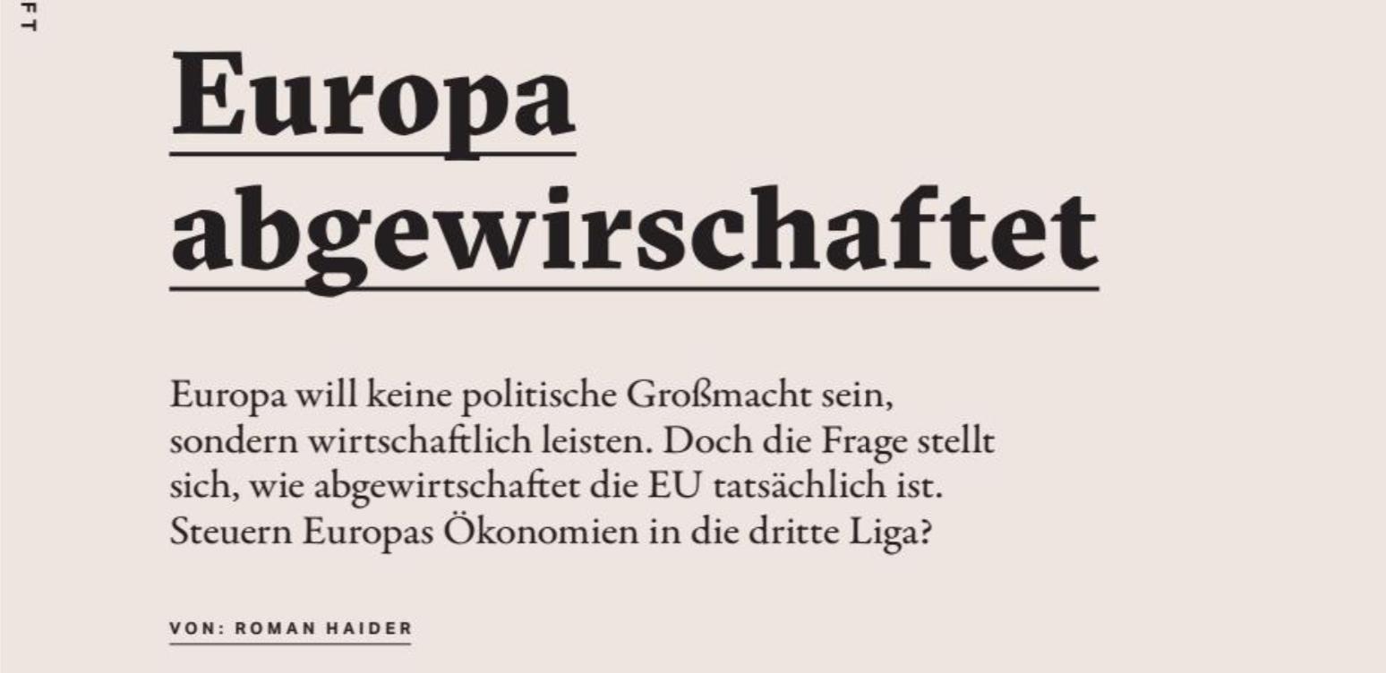 """Roman Haider in """"Freilich"""", Nr. 3/19"""