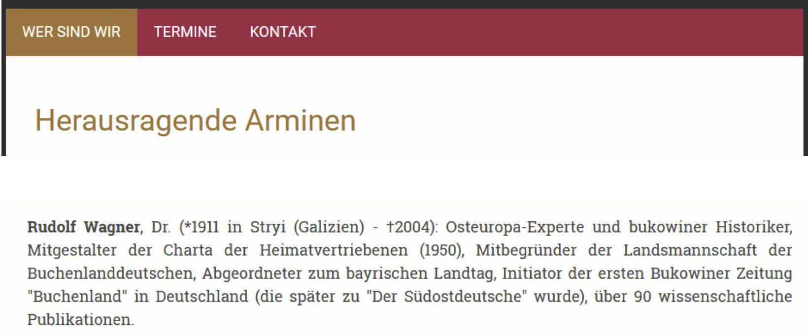 """""""Herausragende"""" Arminen: Rudolf Wagner"""