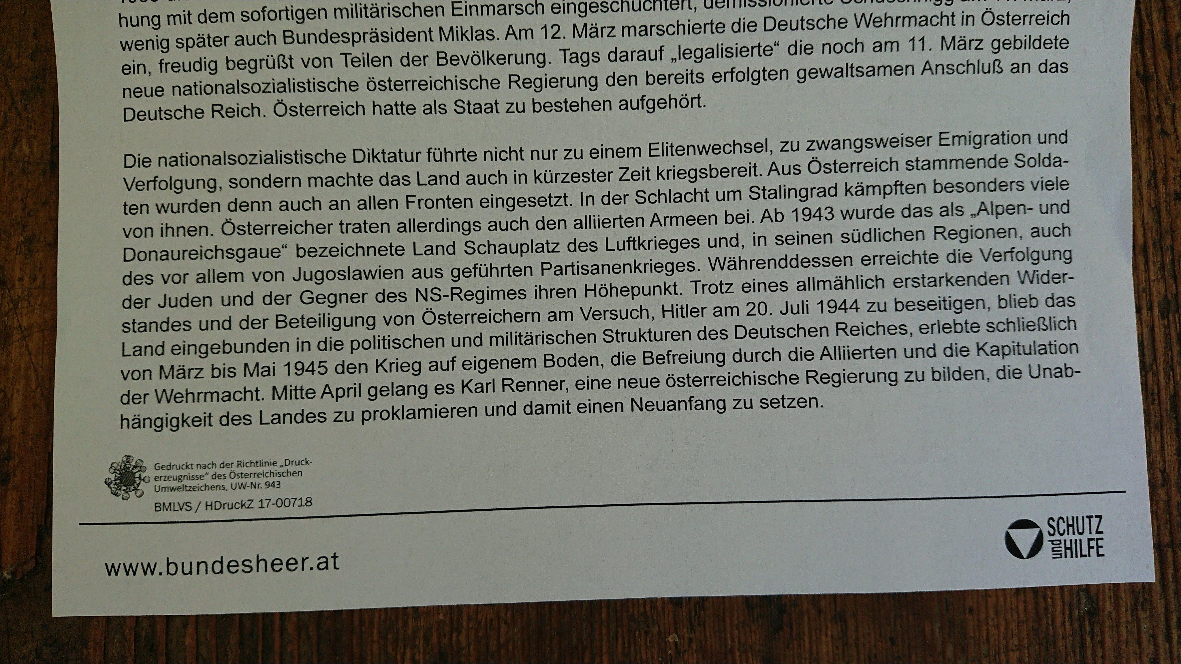 """Handout HGM """"Republik und Diktatur 1918-1945"""""""