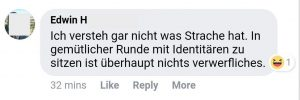Traurige Identitäre 1 (Screenshot Facebook ©FPÖ Fails)