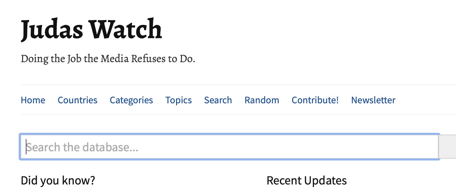 """Neuer Claim von """"Judas Watch"""" (Screenshot Website)"""